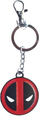 Bidheaven Deadpool Logo Mask Figure Metal Key Chain