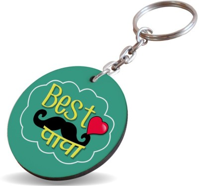 SKY TRENDS GIFT Best Papa With Mustaches and Heart Special Gifts For Dad For Father's Day Key Chain