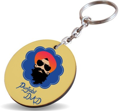 SKY TRENDS GIFT Punjabi Dad With Sardar Unique Gifts For Dad Father's Day Key Chain