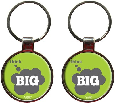 QuoteSutra Think Big Quote Set of 2 Metal Key Chain