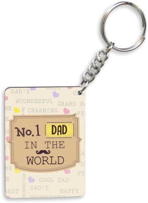 SKY TRENDS GIFT No.1 DAD In The World With Mustaches Unique Gifts For Father's Day Key Chain