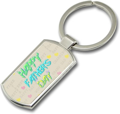 SKY TRENDS Happy Father,s Day With Multi Color Gifts For Father,s Day Rectangle Metal Key Chain