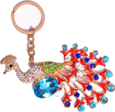 ENERZY peacock blue stones Key Chain