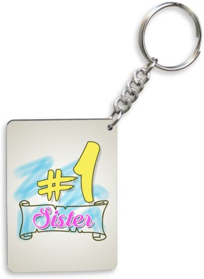 SKY TRENDS GIFT Sky Trends # 1 Sister.Sky Shade Colorful Gifts Happy Rakshabandha Wood Rectangle Key Chain