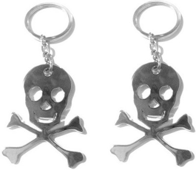 Gade Set of Two Skull Cross Key Chain