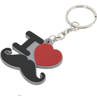 Gadge I Love Moustache Key Chain