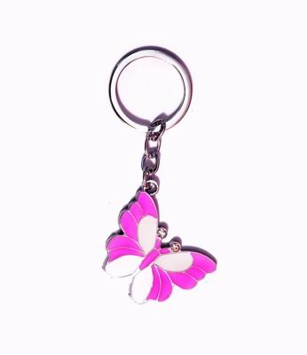 ENERZY butterfly pink metal Key Chain