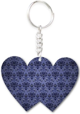 Lolprint 25 Pattern Double Hearts Key Chain