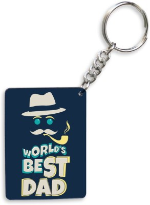 SKY TRENDS GIFT World's Best Dad With Smokstick Birthday Unique Gifts For Father's Day Key Chain