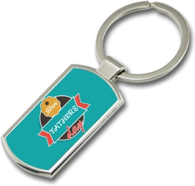 SKY TRENDS Happy Father,s Dad With Background Green Happy Fatrher,s Day Rectangle Metal Key Chain