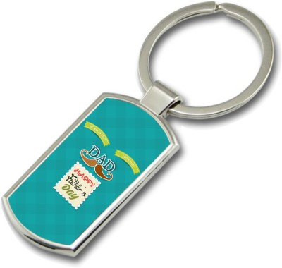 SKY TRENDS World,s Best Love Dad Happy Father,s Day Gifts For Father,s Day Rectangle Metal Key Chain