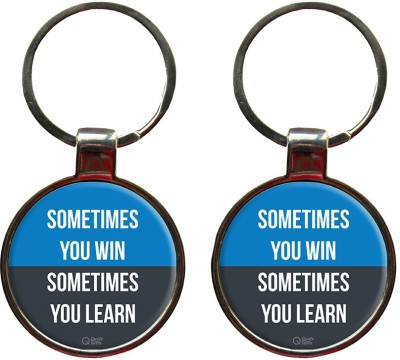 Quotesutra Sometimes You Win Set of 2 Key Chain