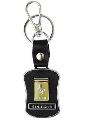 Prime Traders Ferrari Black Leather Key Chain