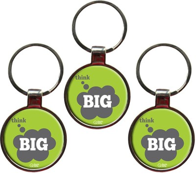 QuoteSutra Think Big Quote Set of 3 Metal Key Chain