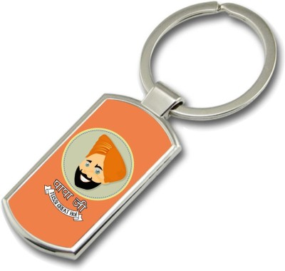 SKY TRENDS Papa Ji Tussi Great Ho Punjabi Gifts For Father,s Day Rectangle Metal Key Chain