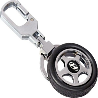 Knowket Honda Logo Type Premium Quality Rotating Wheel Tyre Keyring Metal Locking Key Chain