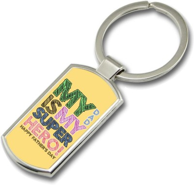 SKY TRENDS My Dad Is My Super Hero ! Gifts For Father,s Day Rectangle Metal Key Chain