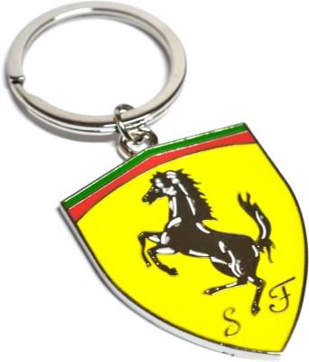 Prime Traders Ferrari Yellow Metal Logo Key Chain