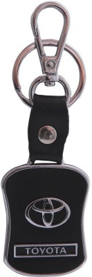 Prime Traders Toyota Black Leather Key Chain