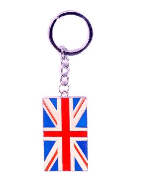 Me2ugifts United kingdom metal flag Key Chain