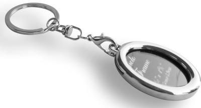 Shop & Shoppee Silver Oval shaped Photo Frame Key Chain