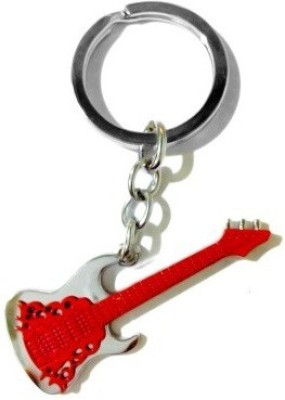 Goodbuy Guitar Red Colour Locking Key Chain