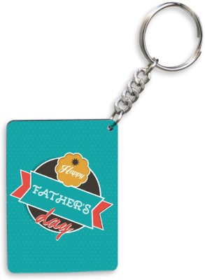 SKY TRENDS GIFT Happy Father's Dad With Background Green Best Gifts For Dad Happy Fatrher's Day Key Chain