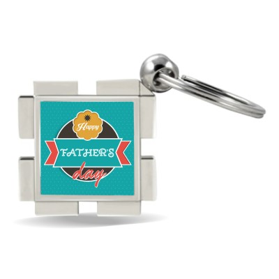 SKY TRENDS GIFT Happy Father's Dad With Background Green Happy Fatrher's Day Metal Key Chain