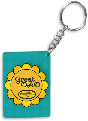 SKY TRENDS GIFT Great Dad Happy Father's Day With Yellow Special Gifts For Father's Day Key Chain