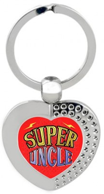SKY TRENDS Super Uncle Heart Metal Key Chain