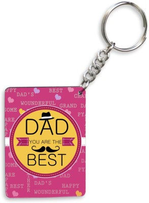 SKY TRENDS GIFT Dad You Are The Best With Yellow Flower Background Gifts For Father's Day Key Chain