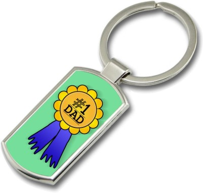 SKY TRENDS No.1 Dad A Special and Best Occassion Gifts For Dad Father,s Day Rectangle Metal Key Chain