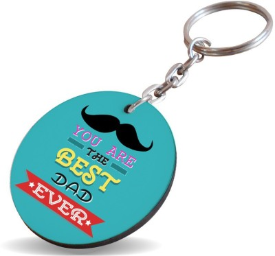 SKY TRENDS GIFT You Are The Best Dad Ever With Black Mustaches Special Gifts For Father's Key Chain