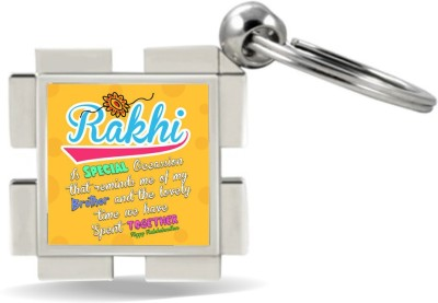 SKY TRENDS Rakhi Is Special Occasion That Remind Me Of My Brother And the Lovely Rakshabandhan Name Bold Colorful Design Yellow Gifts For Brother And Sister For Rakshabandhan Metal Diamond Key Chain