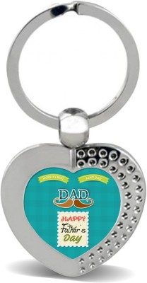 SKY TRENDS GIFT World's Best Love Dad Happy Father's Day Gifts For Father's Day Heart Metal Key Chain