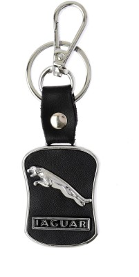 Prime Traders Jaguar Black Leather Key Chain