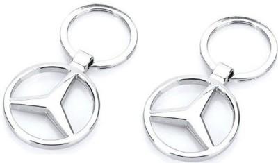 Goodbuy set of 2 Mercedes Benz logo Key Chain