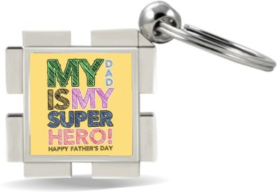 SKY TRENDS GIFT My Dad Is My Super Hero ! Gifts For Father's Day Metal Key Chain