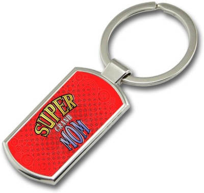 SKY TRENDS GIFT Super Grand Mom Metal Rectangle Key Chain