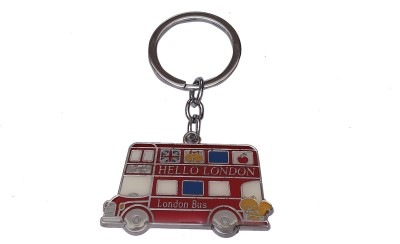 Thinksters Red Bus Keychain Carabiner