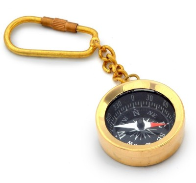 Little India Antique Brass Handcrafted Compass-161 Key Chain
