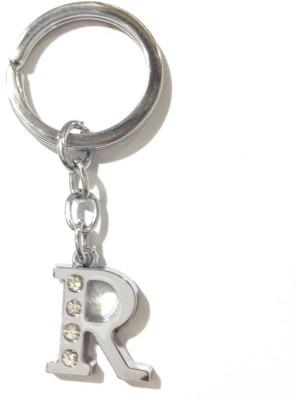 CTW Fashion Alphabet R Chrome Metal Finish Keyring Key Chain