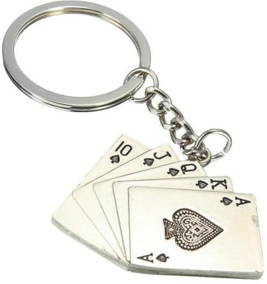 Gade Metal poker Cards Key Chain