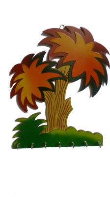 Desert Eshop Cute Tree Wooden Key Holder
