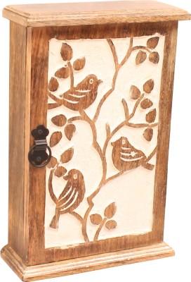 Home Sparkle Box Type Key Hanger Wooden Key Holder