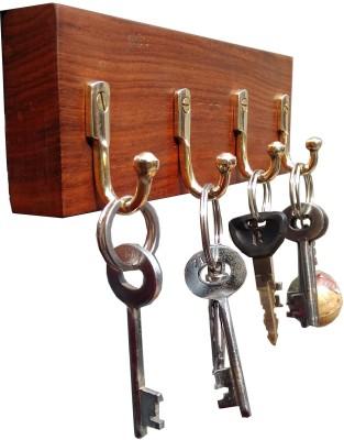 Royal royal wooden key holder Brass Key Holder