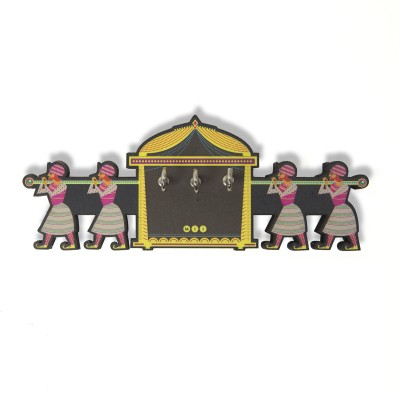 Mad(e) in India Palki Wooden Key Holder