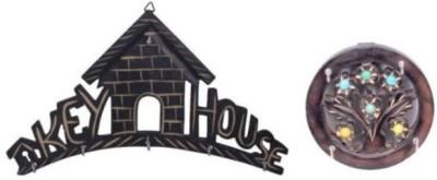 Onlineshoppee Key House - Wall Decor Wooden Key Holder