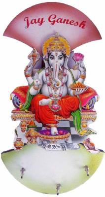 Excellent4U Ganeshji Shaped Wooden Key Holder