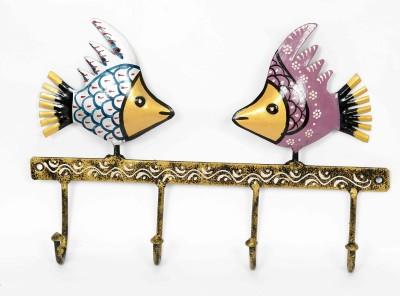 KHUSHI HANDICRAFTS IRON FISH KEY HOLDER Iron Key Holder